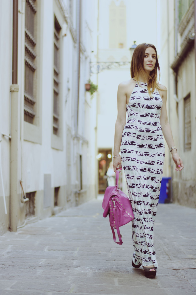 valeria zasa fashion blogger con maxi dress