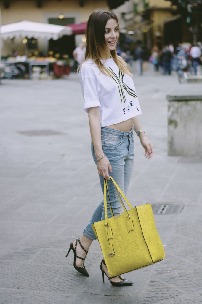 outfit casual chic t shirt kenzo fashion blogger valeria zasa my urban bon ton
