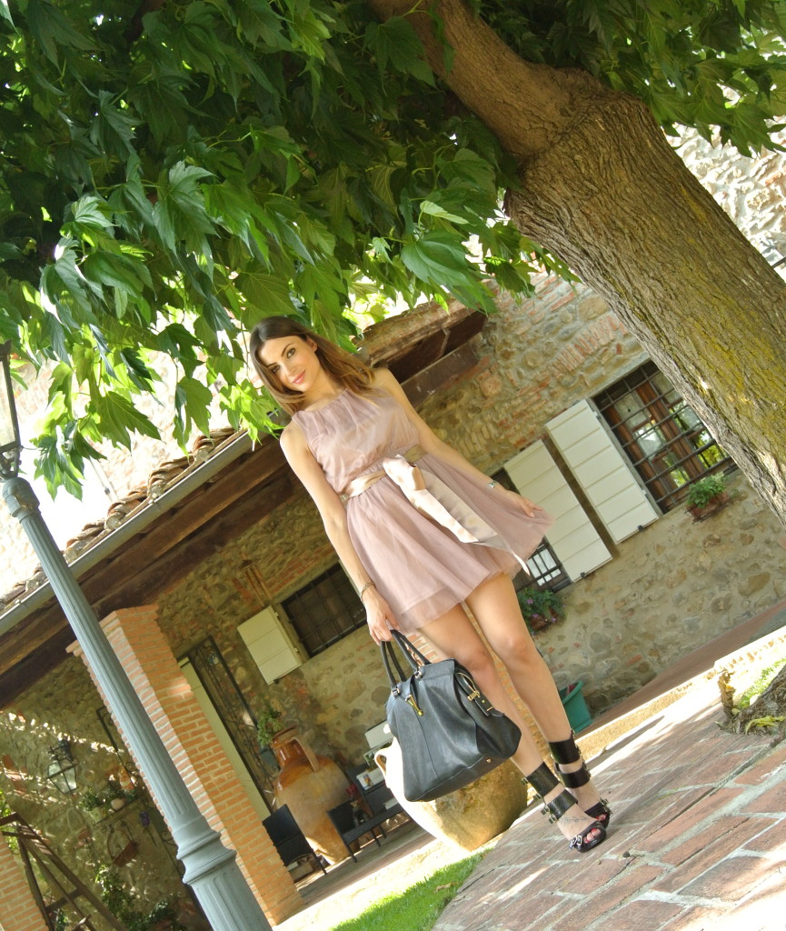 outfit romantic rock tulle e borchie