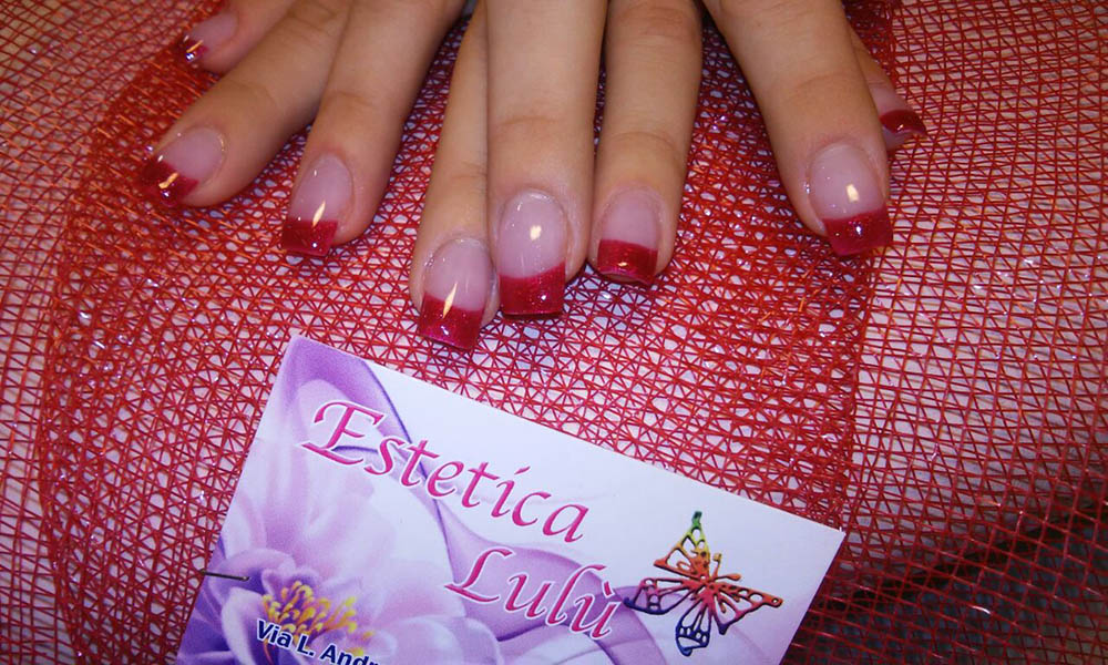 idea smalto natale glitter rossi