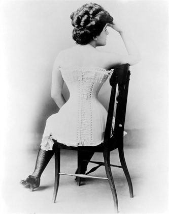 ca. late 19th century --- Young Lady in a Victorian Corset --- Image by © Bettmann/CORBIS