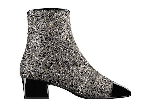 chanel glitter boots